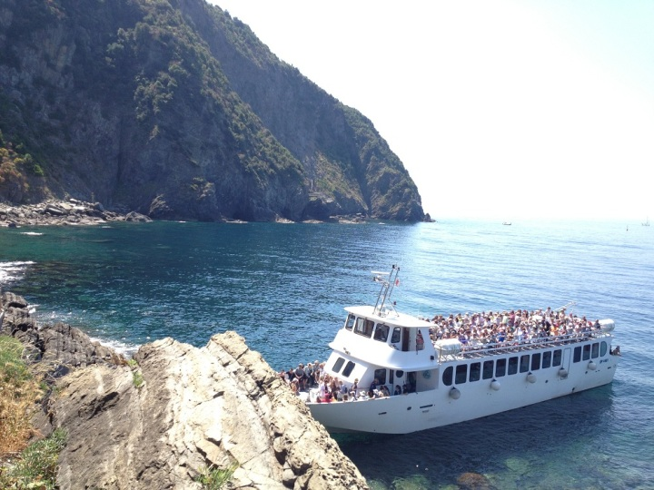 While you have the option to walk, you can also take this ferry boat to Monterosso Al Mare to save time if you only have a day to explore Cinque Terre. This is the option that most day tours take. But if you are staying in Riomaggiore for a few days, feel free to take the Via dell'Amore.