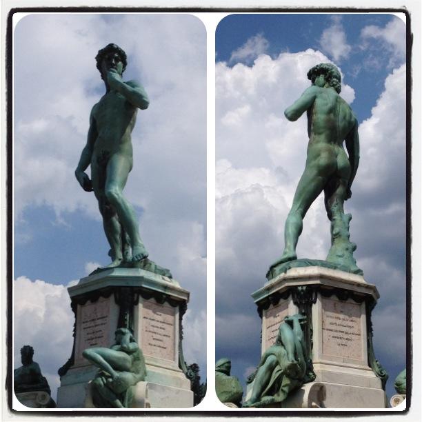 David bronze sculpture located in Piazzale Michelangelo.