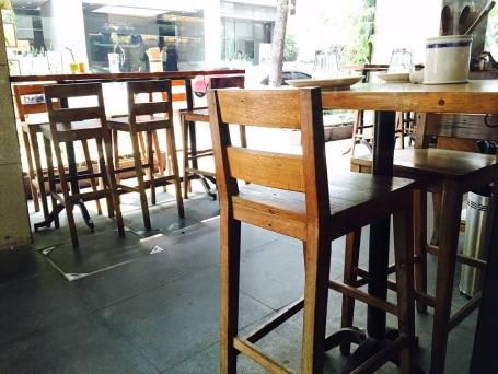 There are two ways you can enjoy Wildflour Cafe + Bakery, indoor where it is air-conditioned or if you are a smoker and love the outdoors, that is possible too with their high chairs and tables outside.